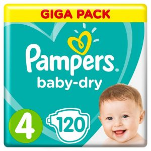 Pampers Baby Dry 4 dydis (9-14 kg)