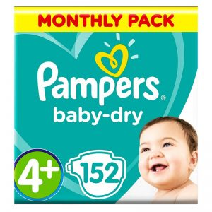 Pampers Baby Dry 4+ dydis (10-15 kg)