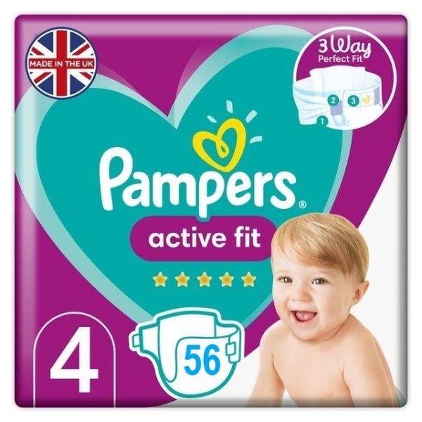 Pampers Active Fit 4 dydis (9-14 kg)