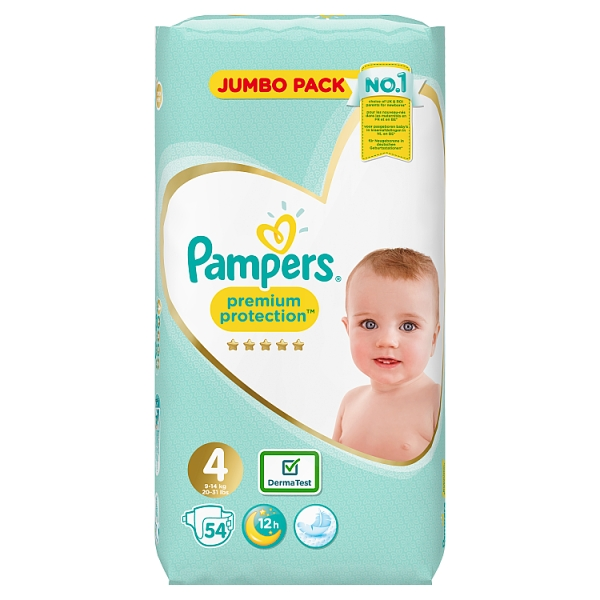 Pampers Premium Protection 4 dydis (9-14 kg)