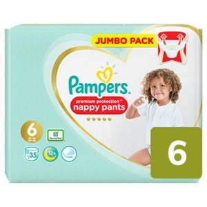 Pampers Premium Protection Pants 6 dydis (15+ kg)