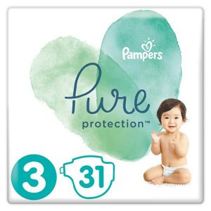 Pampers Pure Protection 3 dydis (6-10 kg)