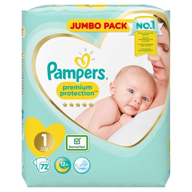 Pampers Premium Protection 1 dydis (2-5 kg)