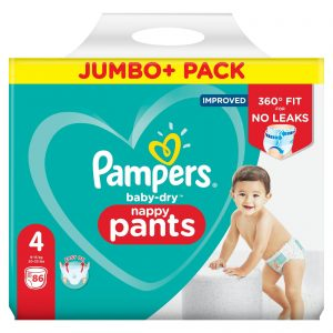 Pampers Baby Dry Pants 4 dydis (9-15 kg)