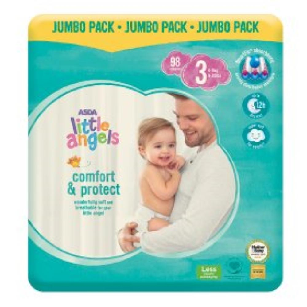 Asda Little Angels 3 dydis (4-9 kg)