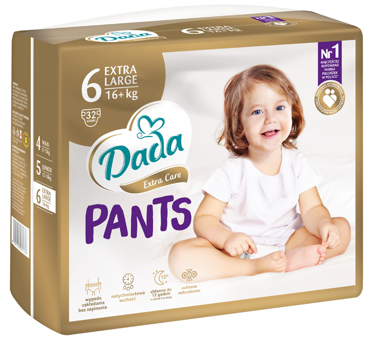 Dada Extra Care Pants 6 dydis (16+ kg)