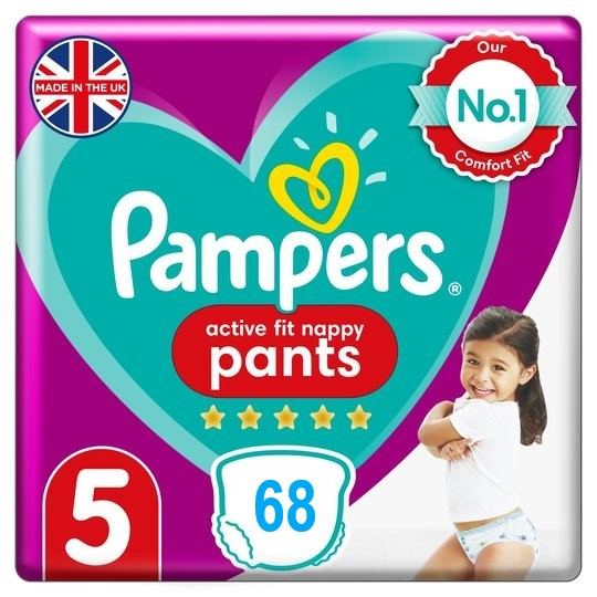 Pampers Active Fit Pants 5 dydis (12-17 kg)
