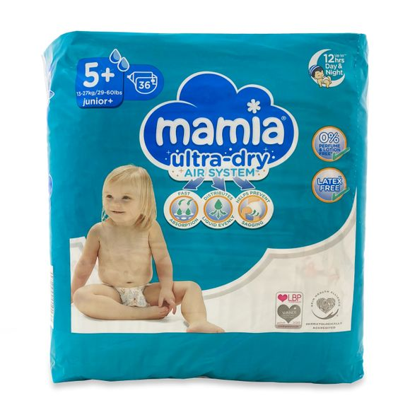Mamia Ultra Dry Air System 5+ dydis (13-27 kg)